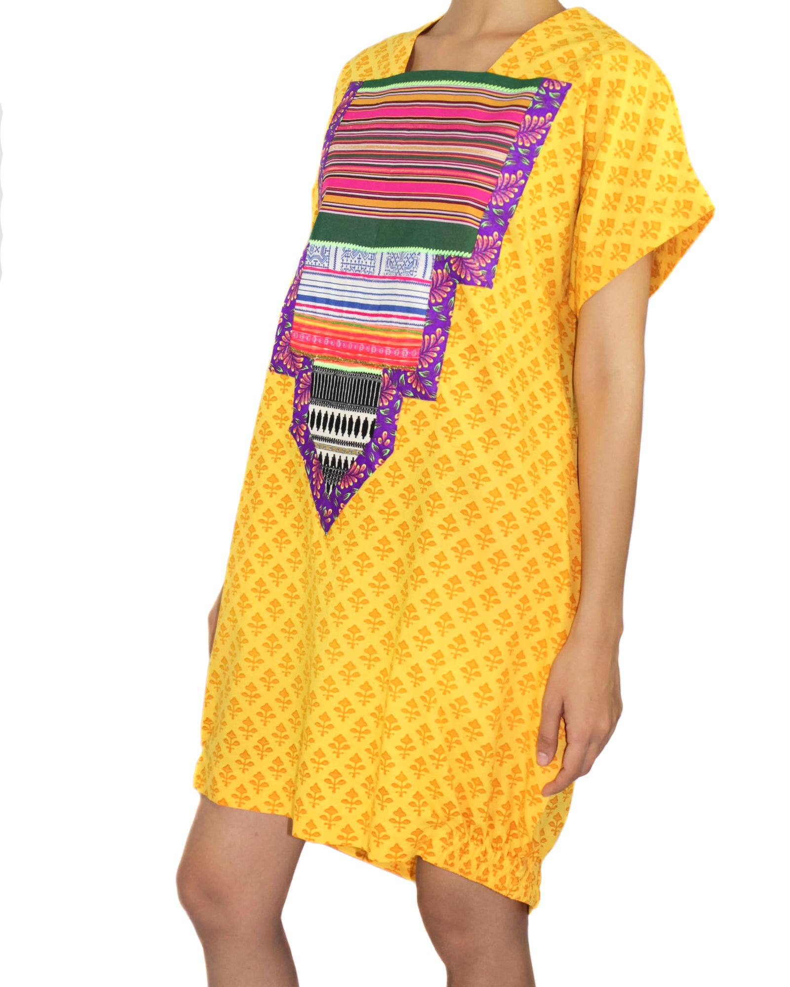 Canary Cotton & Patchwork Dress