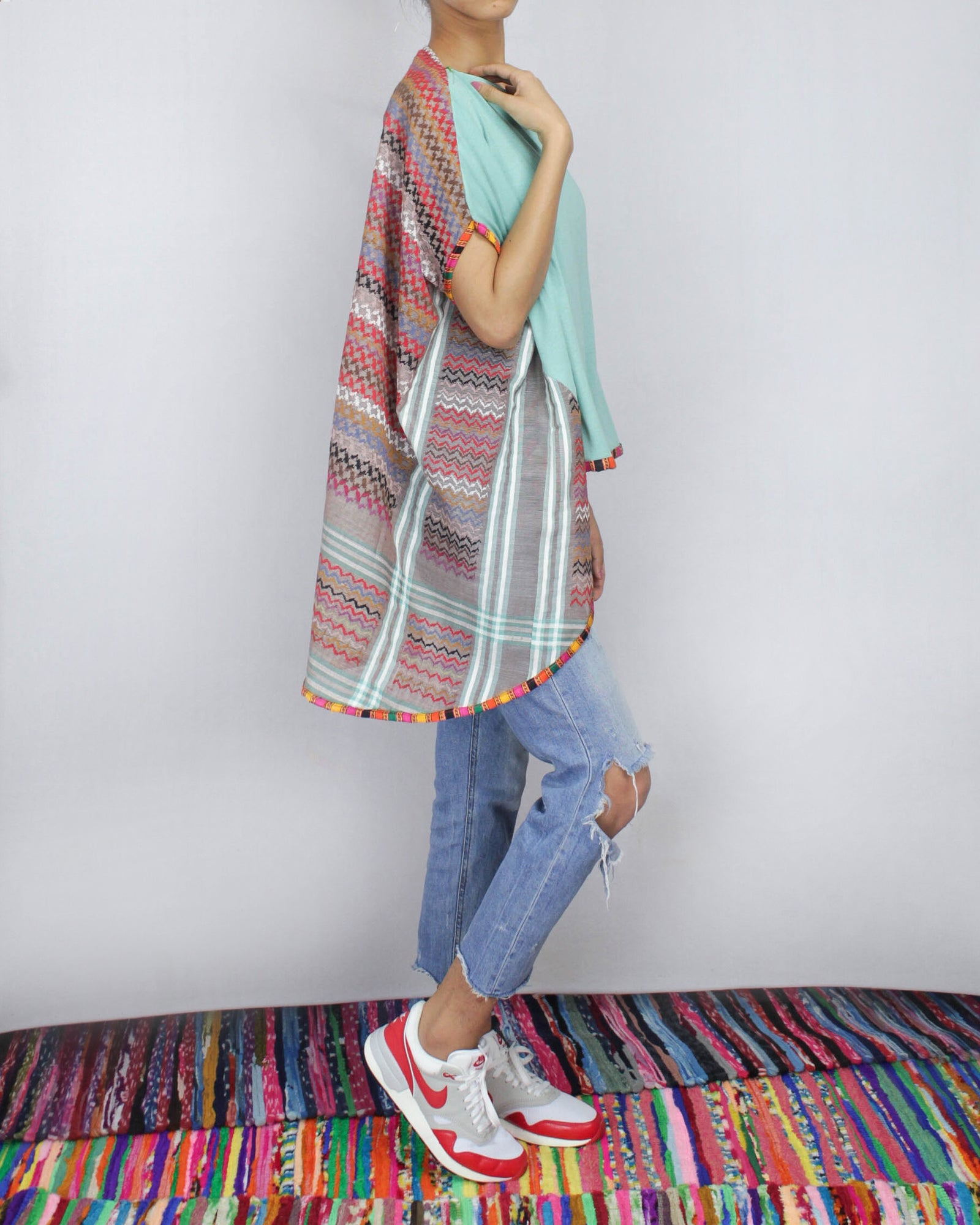 Keffiyeh Classic  cotton jersey convertible cape by ragmatazz