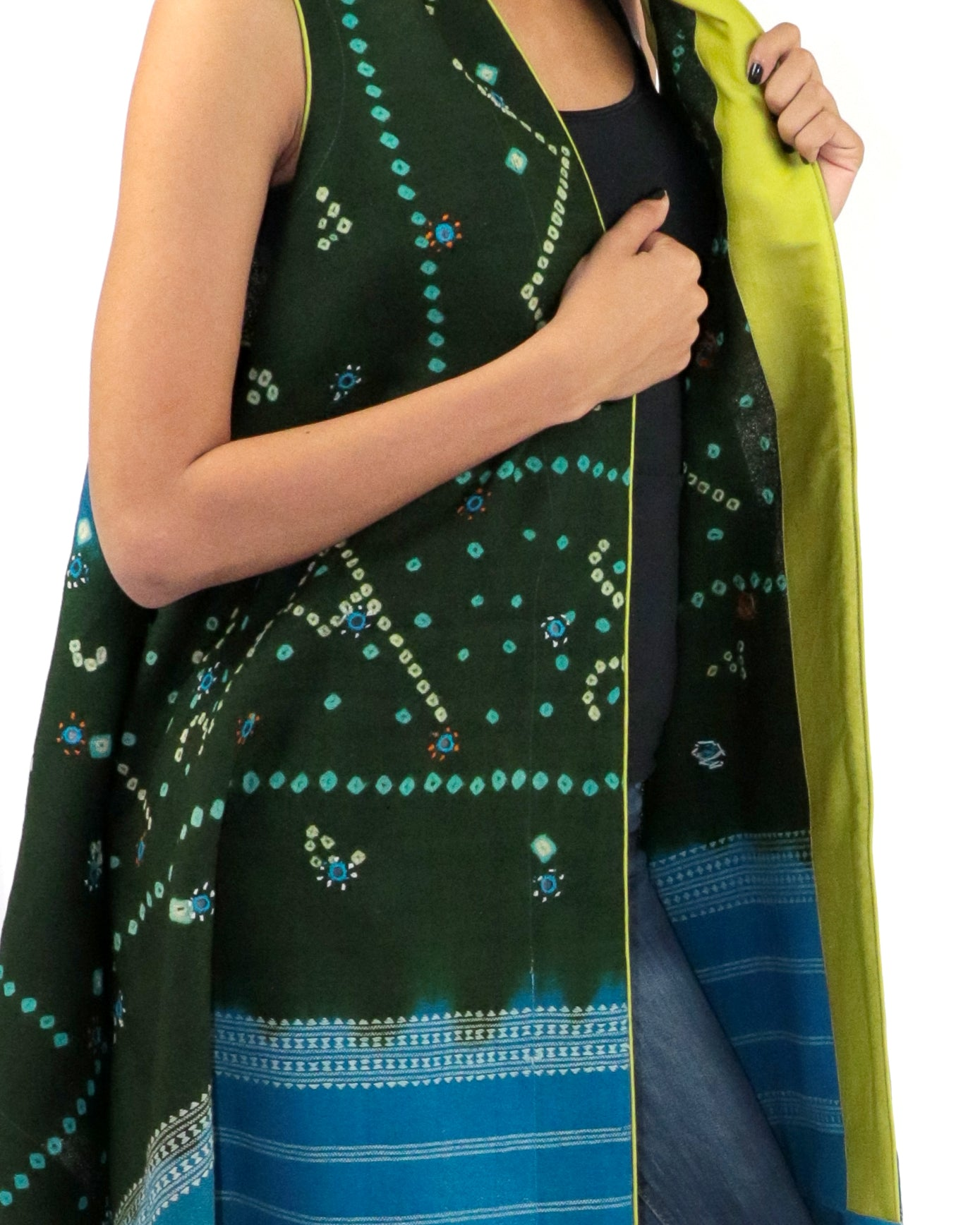 Bandhani Belle | Draped Vest