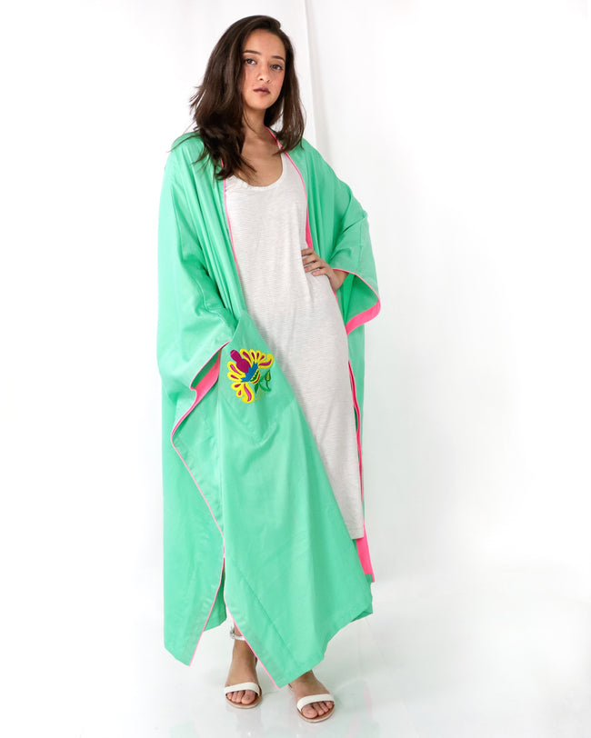 Bisht Duster | Mowgli in Turquoise
