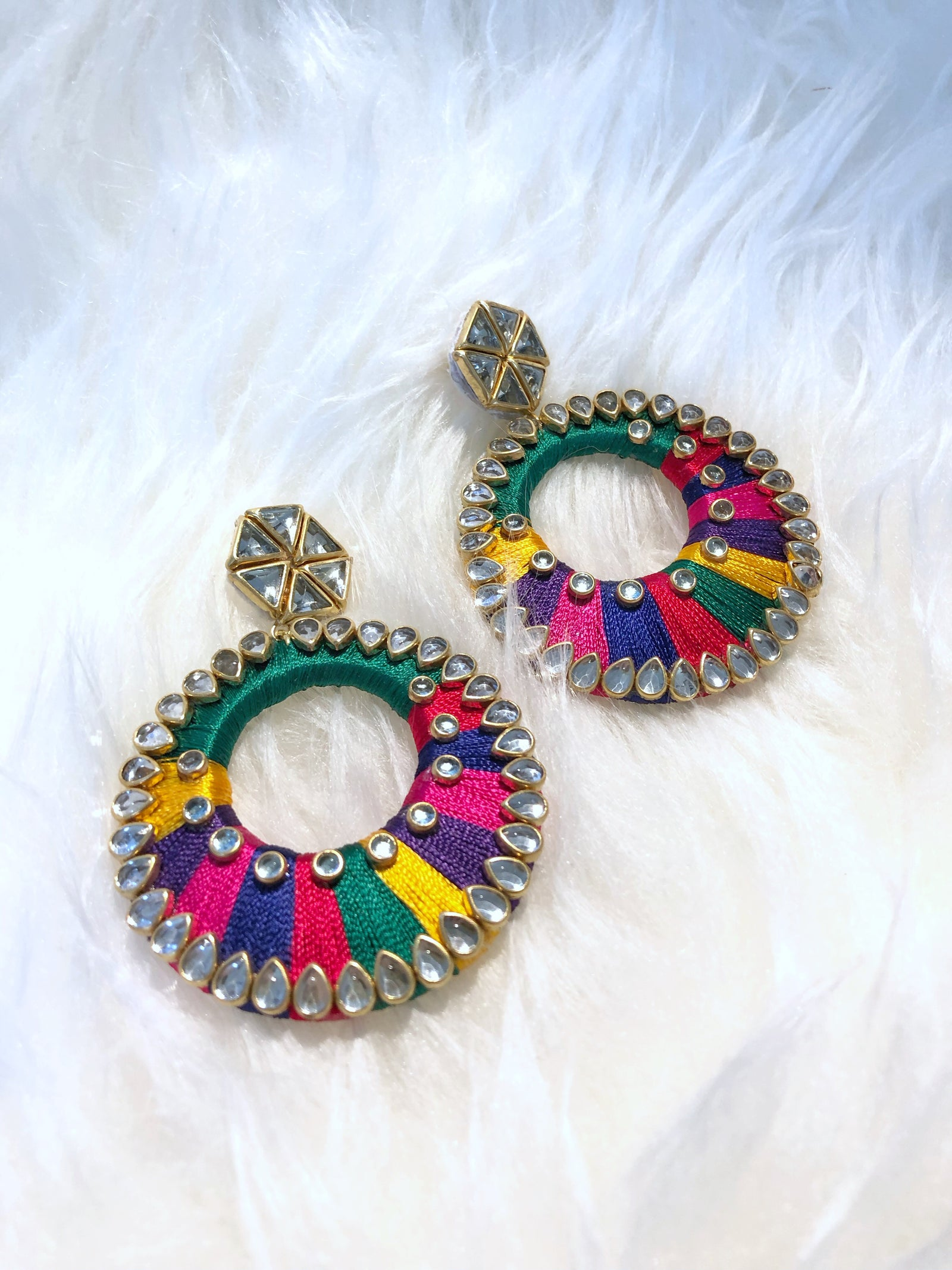 Rainbow Diamonique Earrings