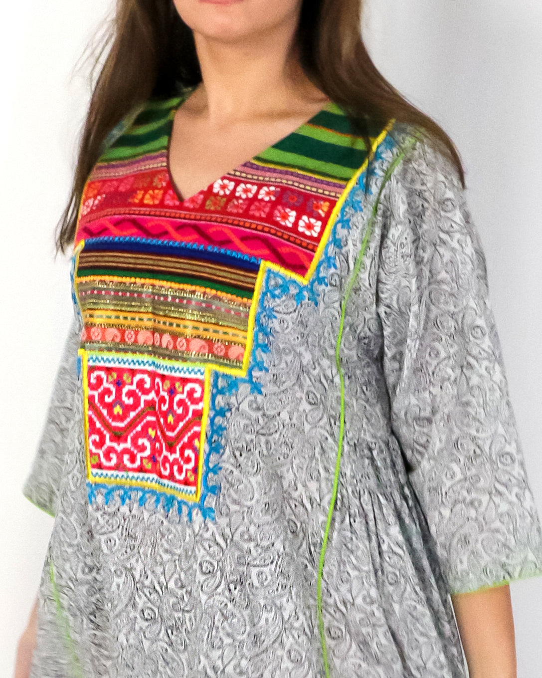 Manya Signature Patchwork | B/W Paisleys - 2