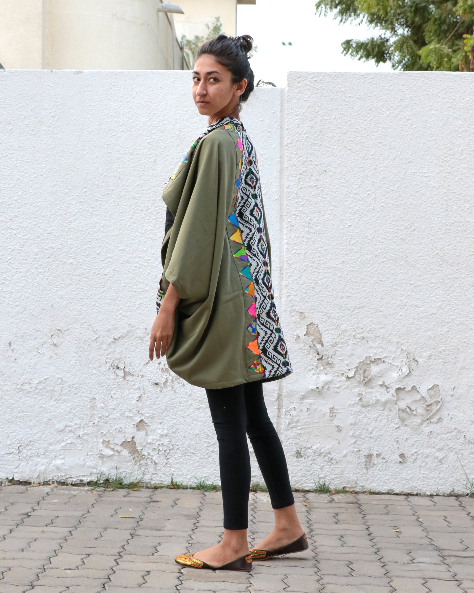 Patchwork Khaki | 2-Way Jacket