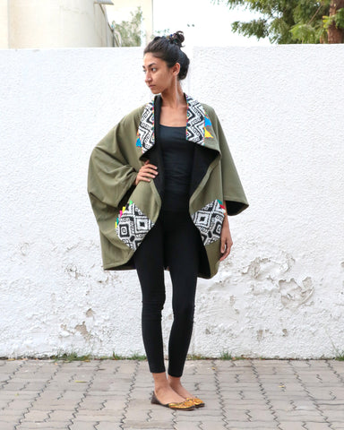 Patchwork Bandana | 2-Way Jacket