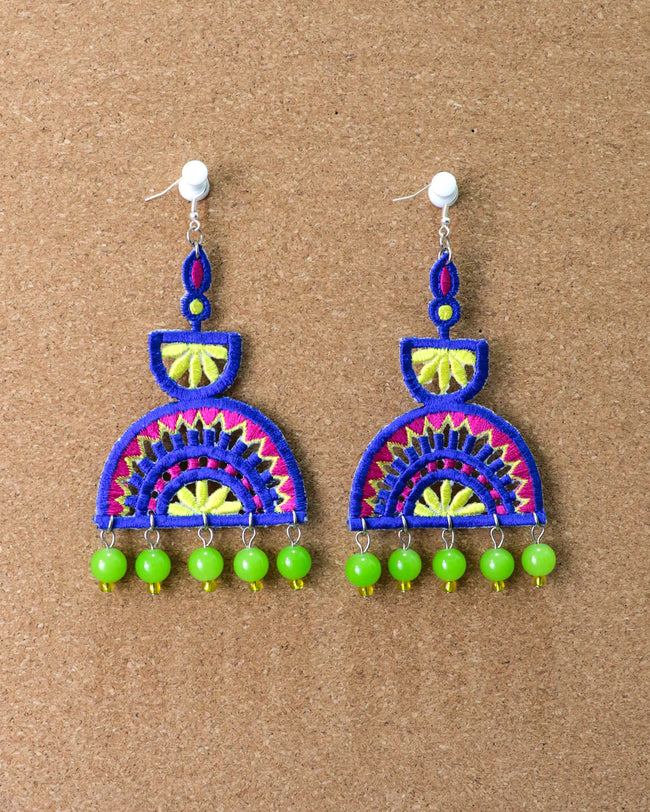 Ellora Earrings | Green