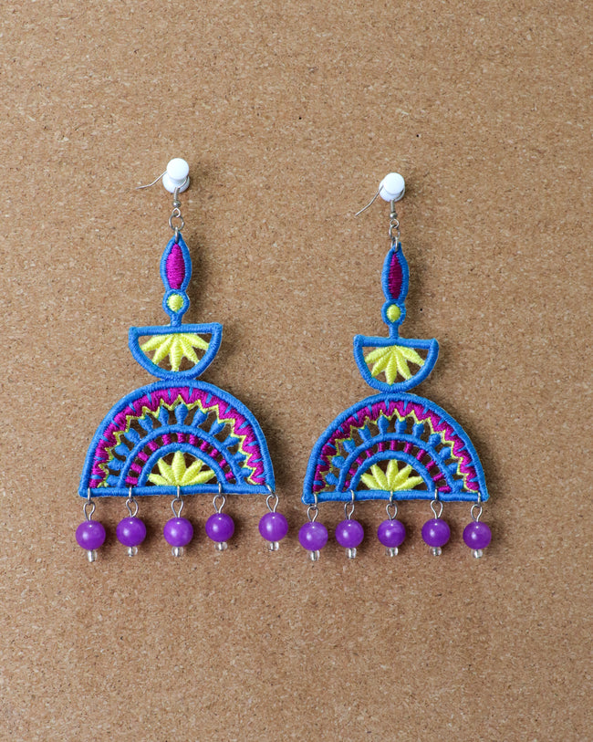 Ellora Earrings | Blue