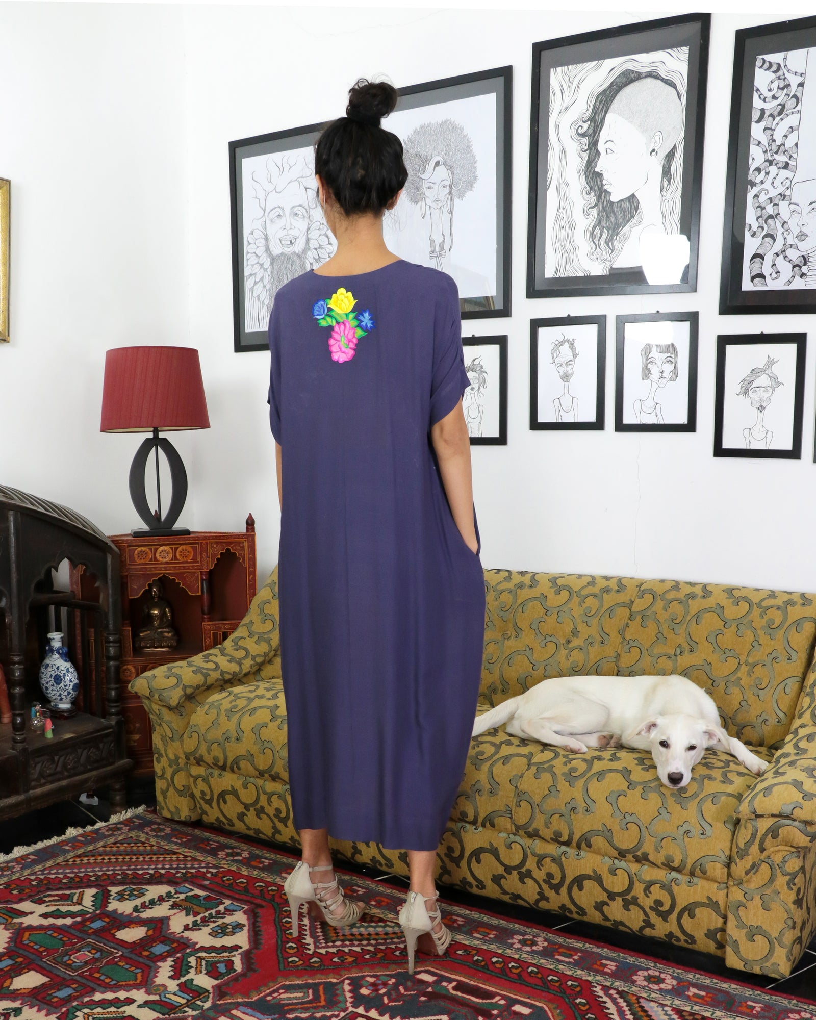 Zuleika Bagh Embroidered Dress | Bossanova Purple