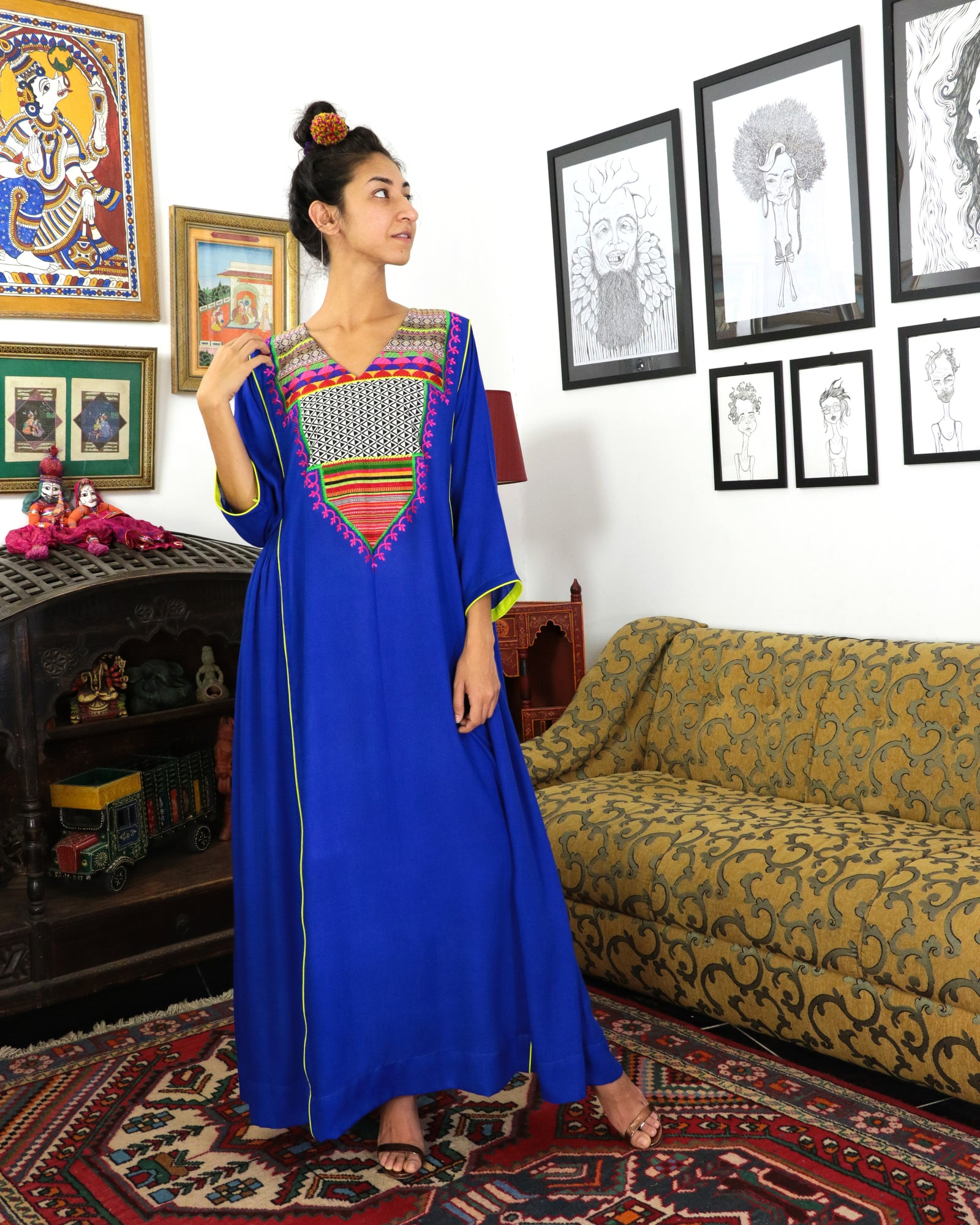 Sultana Signature Patchwork | Electric Blue