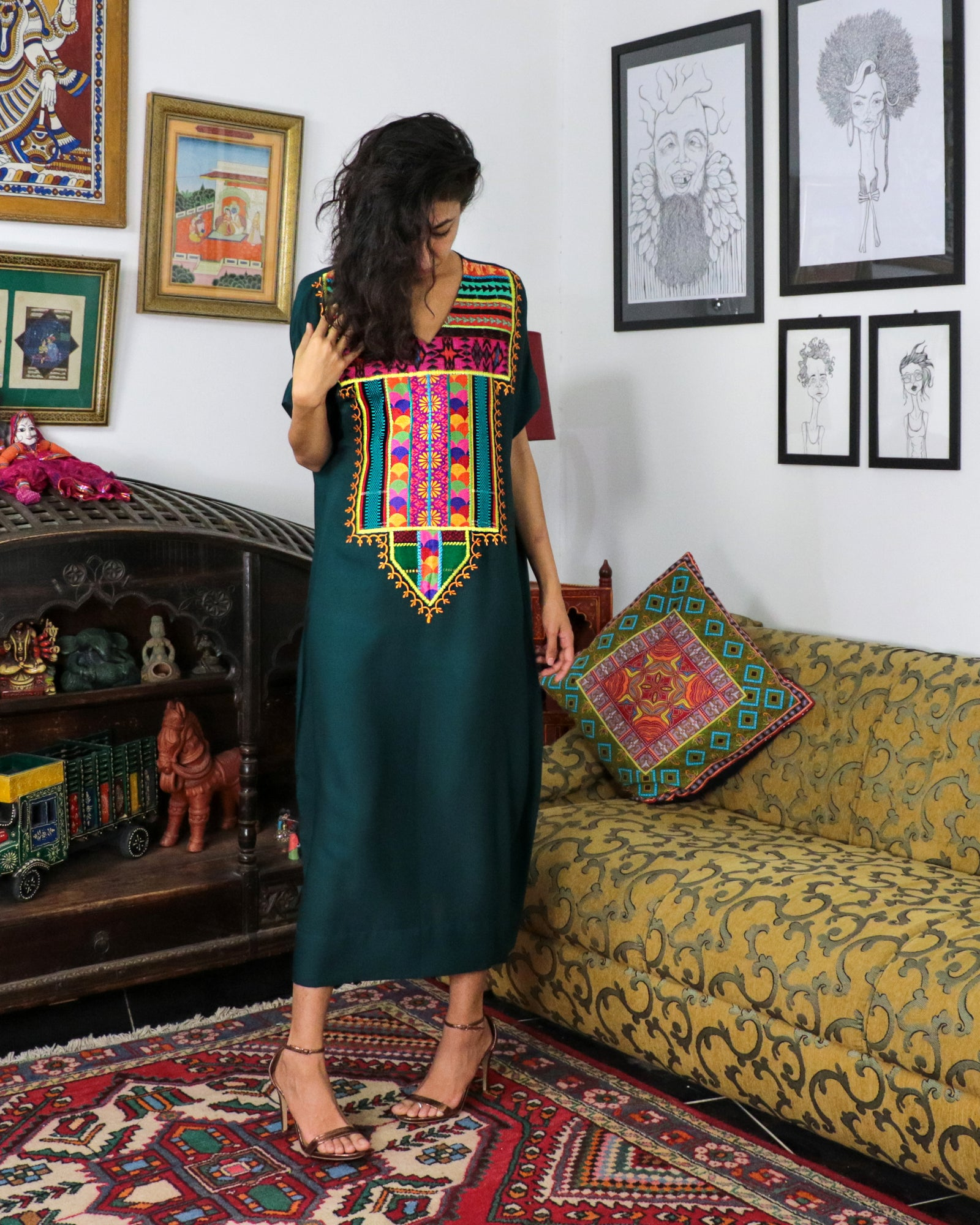 Sultana Signature Patchwork | Emerald Green