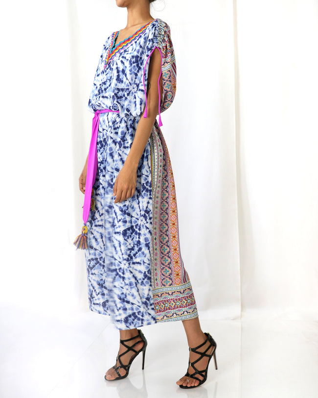Kaftan Jumpsuit | Allegra Blue