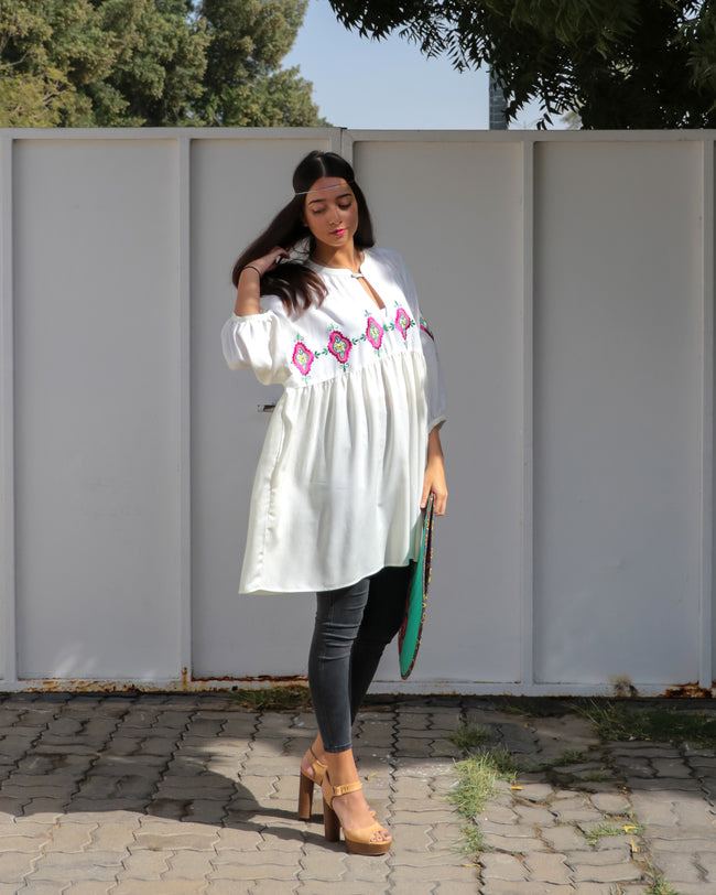Florence Top | White