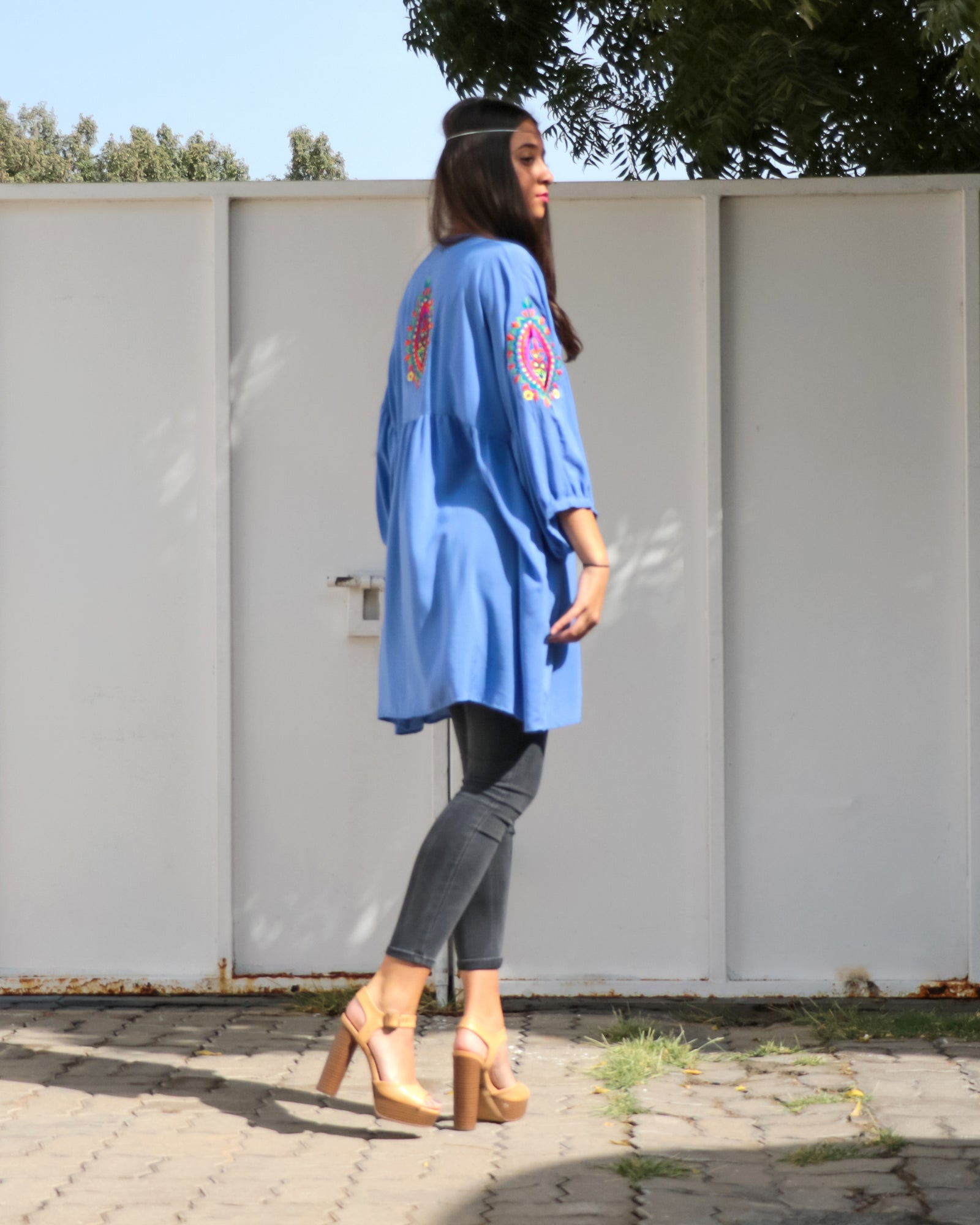 Florence Top | Blue