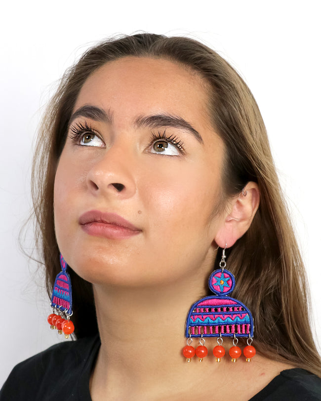 Mahi Earrings | Burnt orange