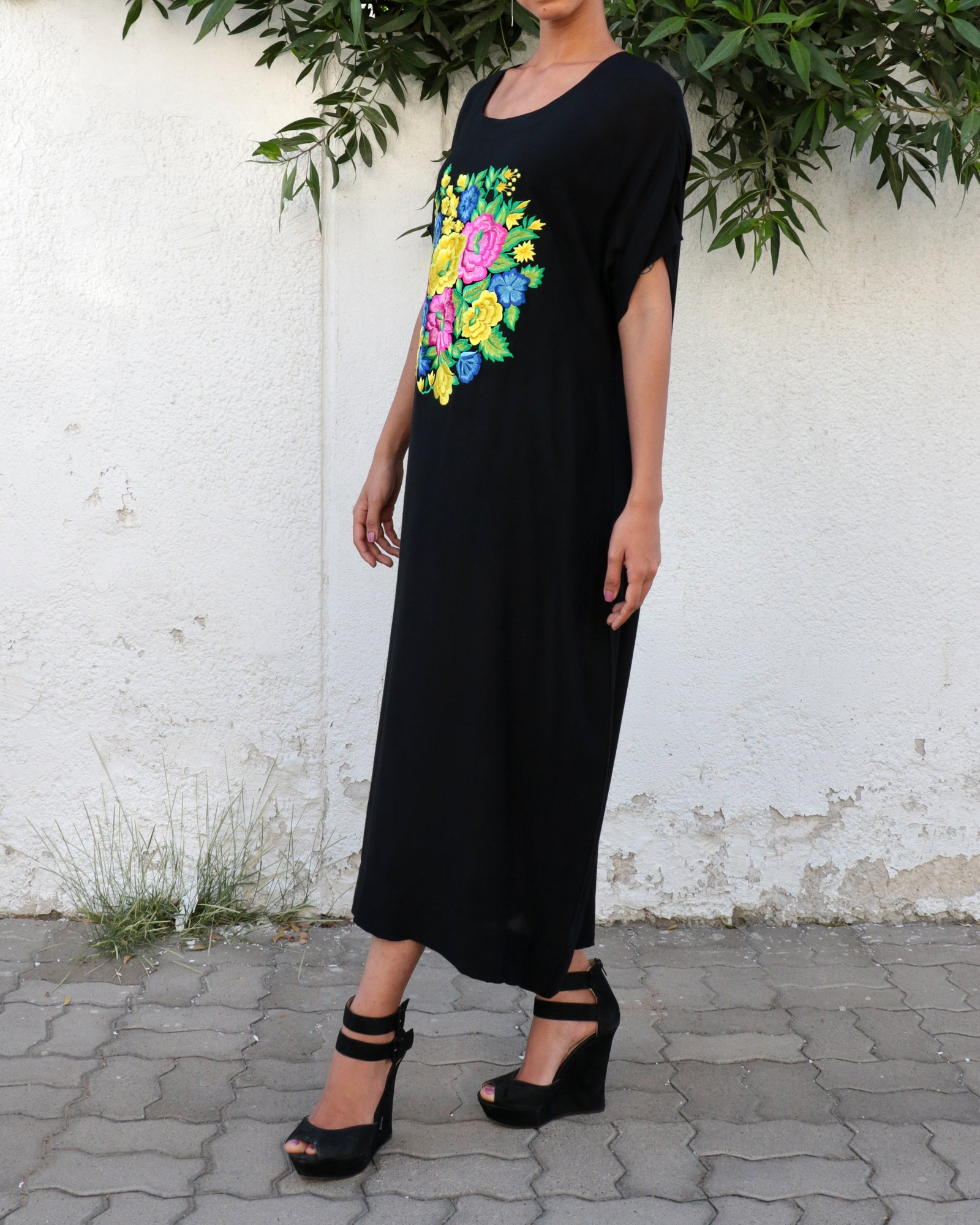 Zuleika Bagh Embroidered Dress | Black