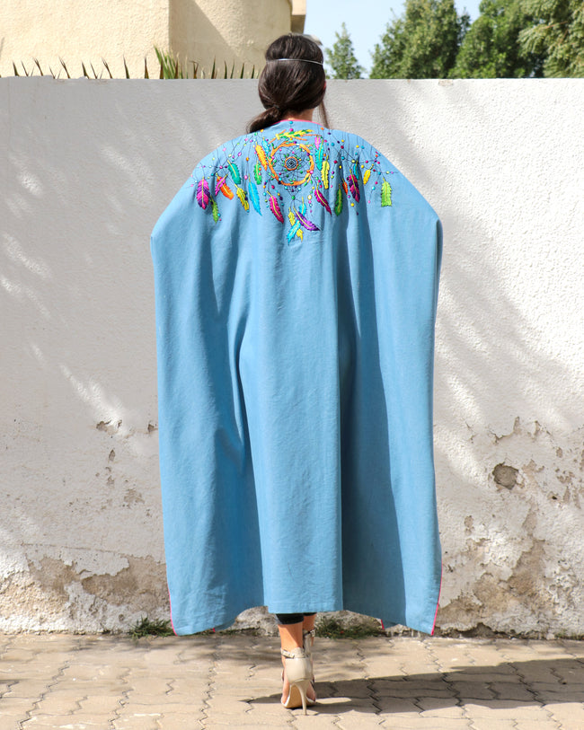 Bisht Duster | Dream Weaver in Denim