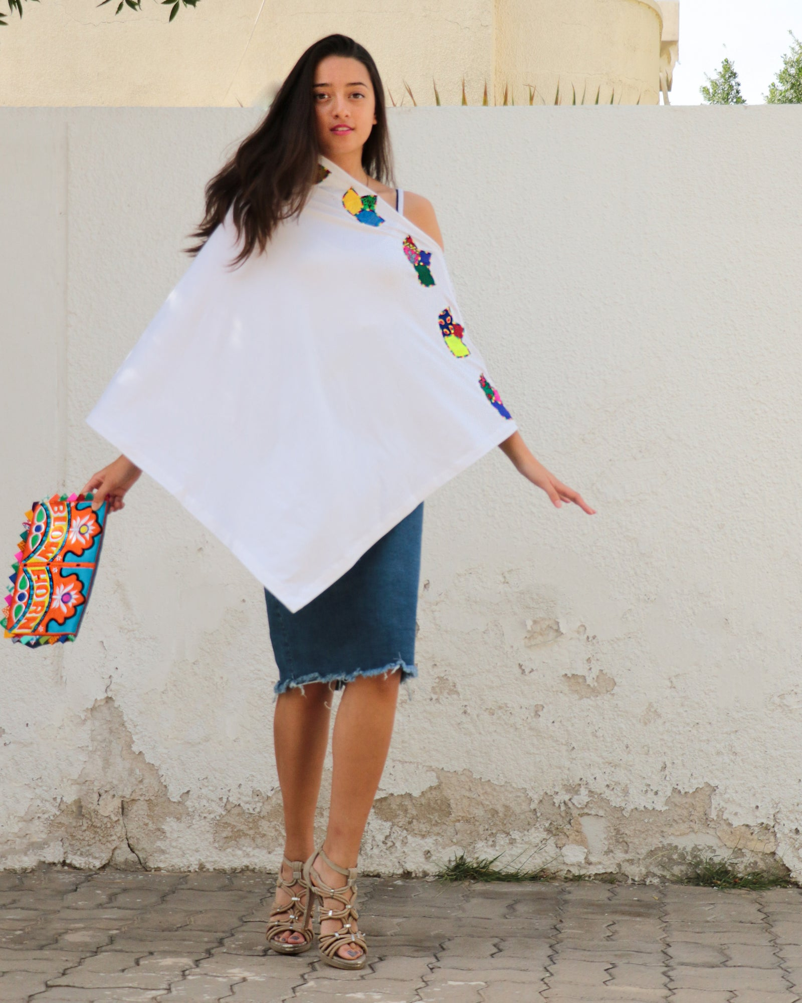 Rima Meditation Poncho | Lotus Collection