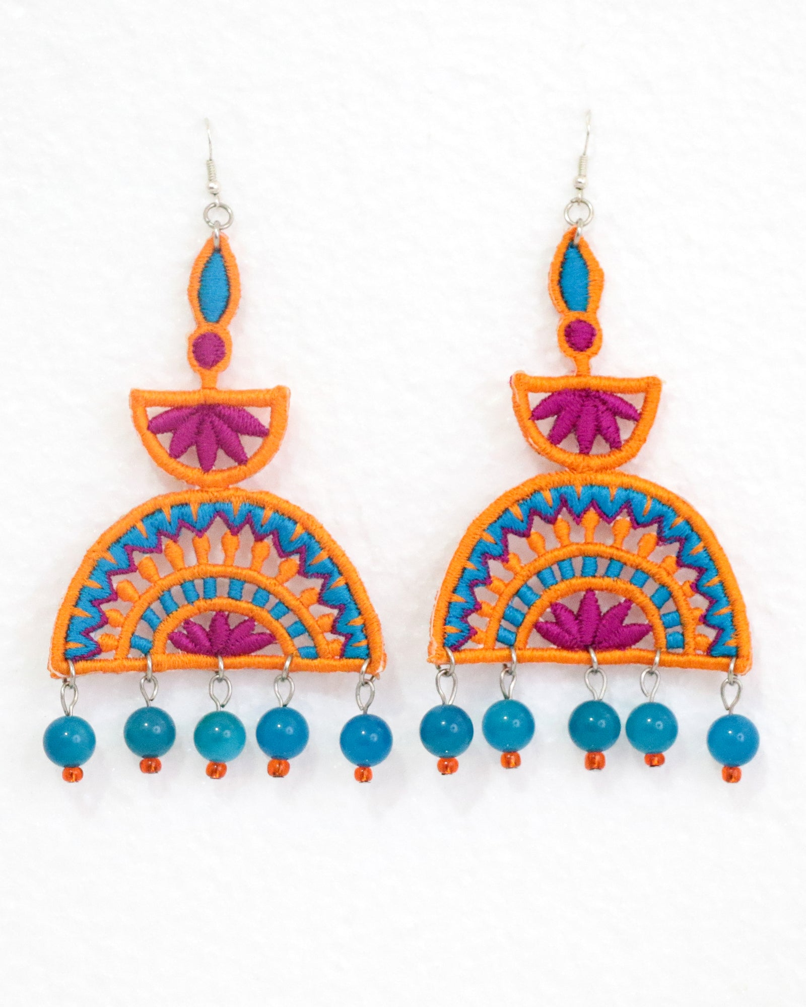 Ellora Earrings | Tangerine