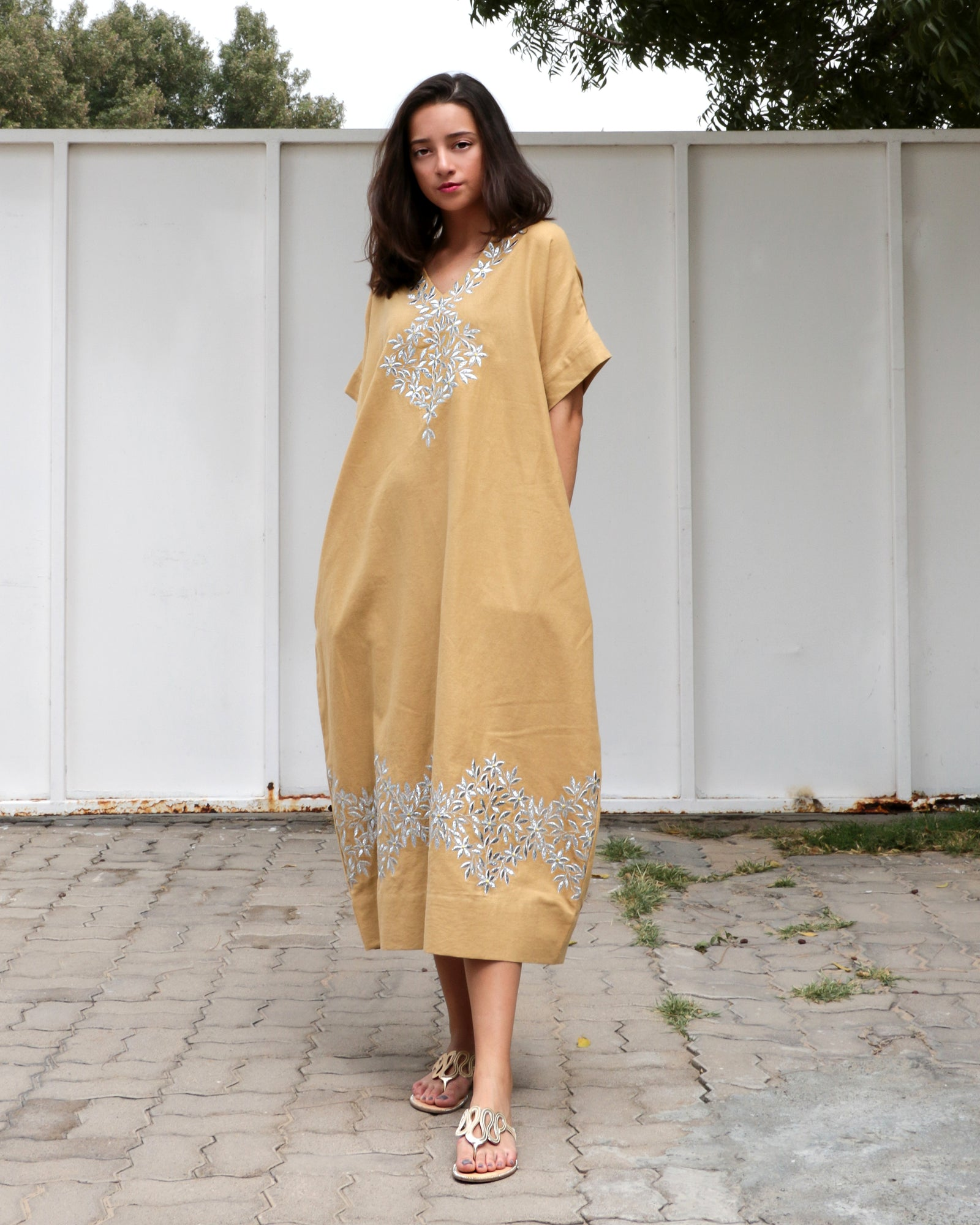 Gaya Glinen Embroidery Dress