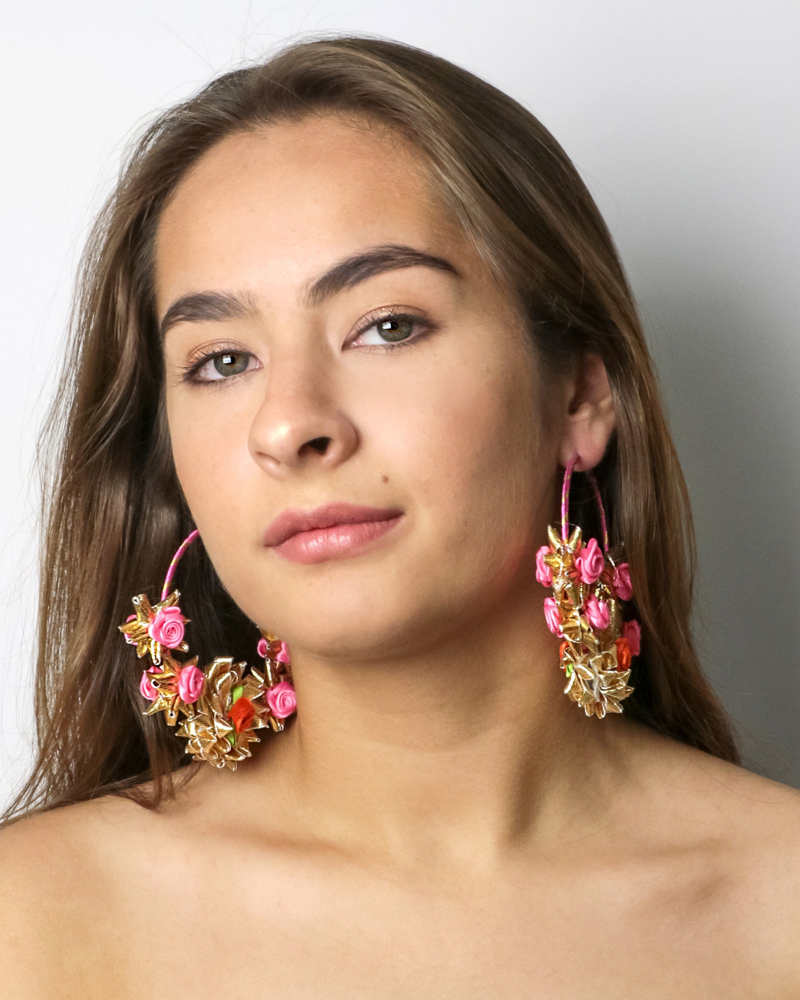 'Hoop Blooms' Earrings