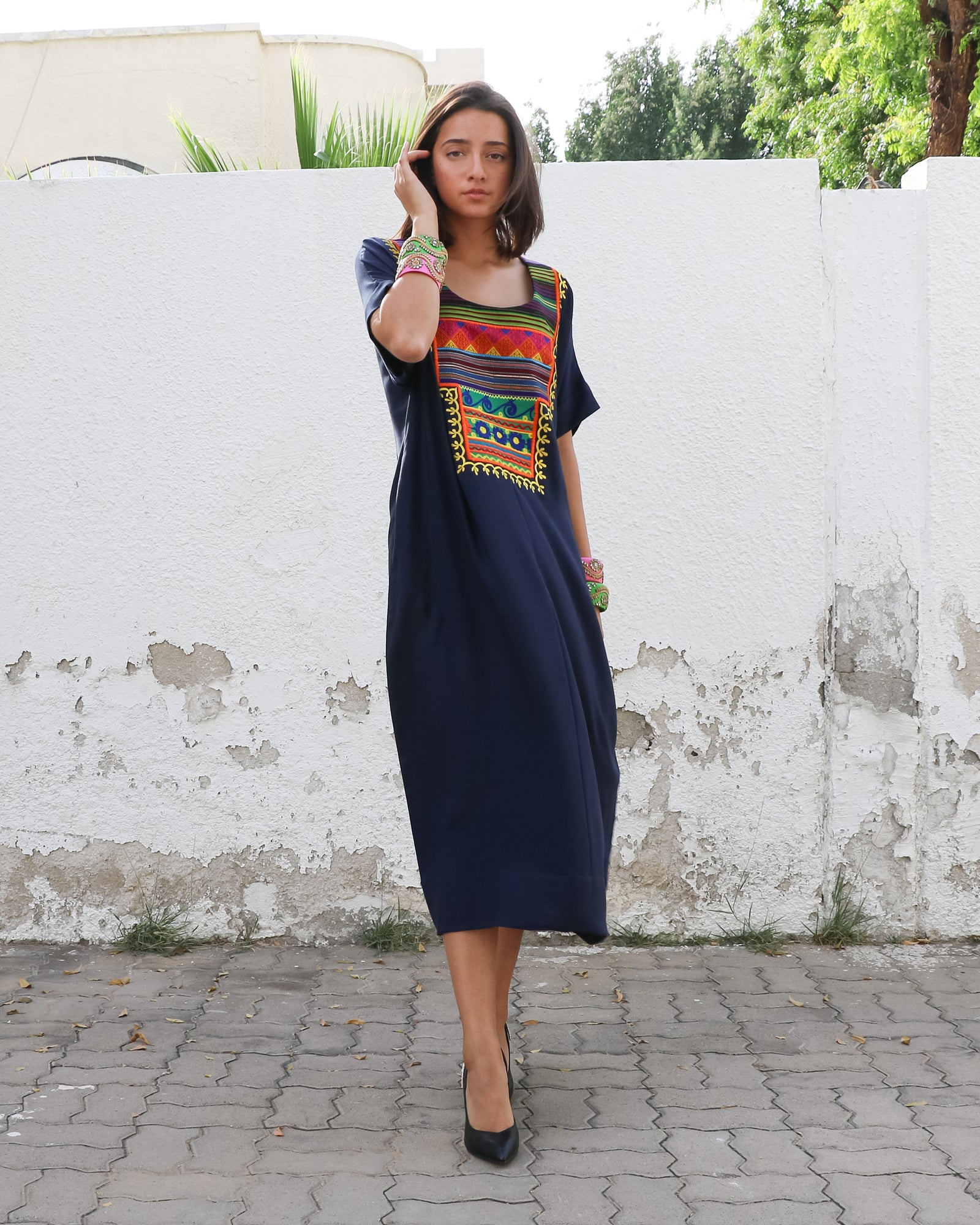 Manya Signature Patchwork | Navy - 2
