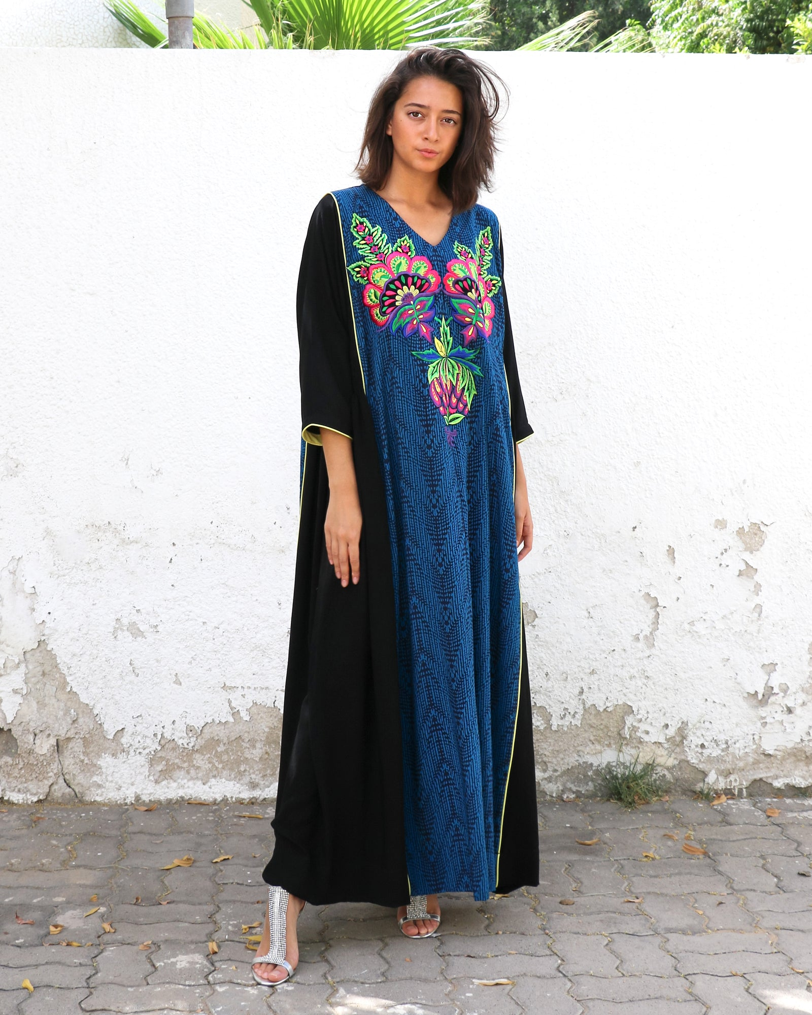 Anahita Embroidery | Cobalt & Black