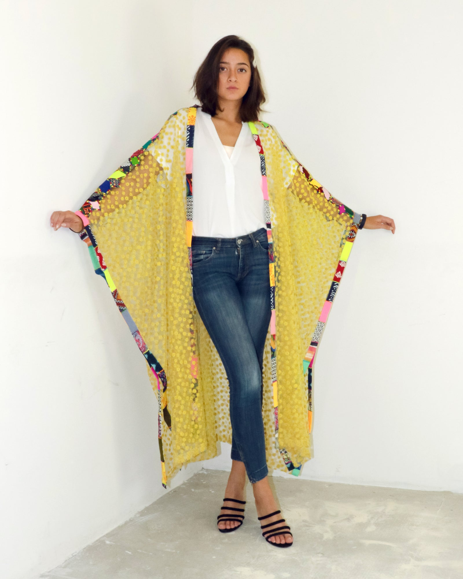 Bisht Duster | Summer Daisies