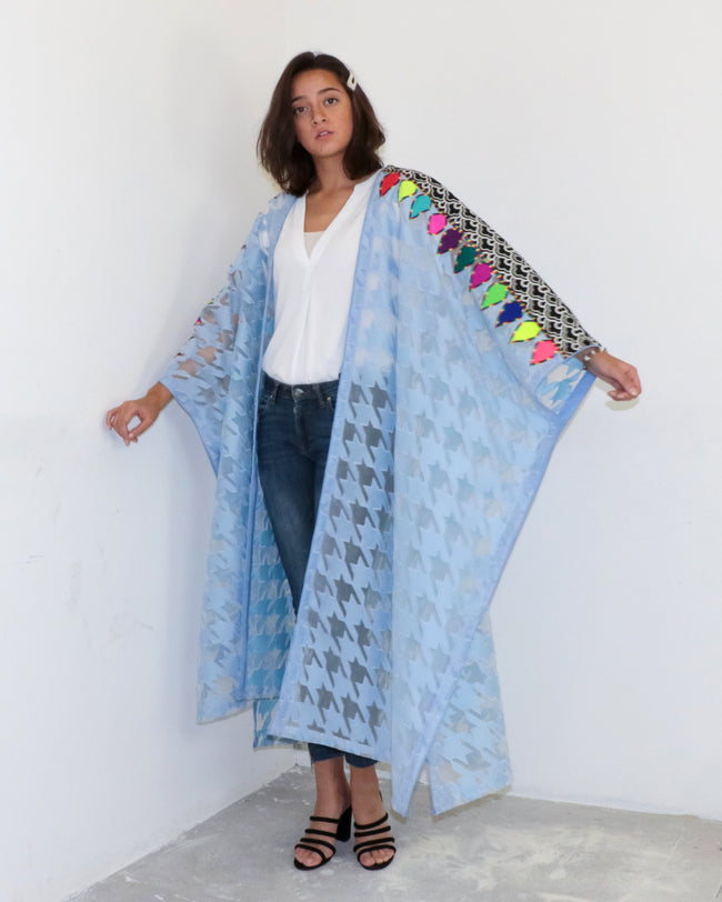 Bisht Duster | Houndstooth