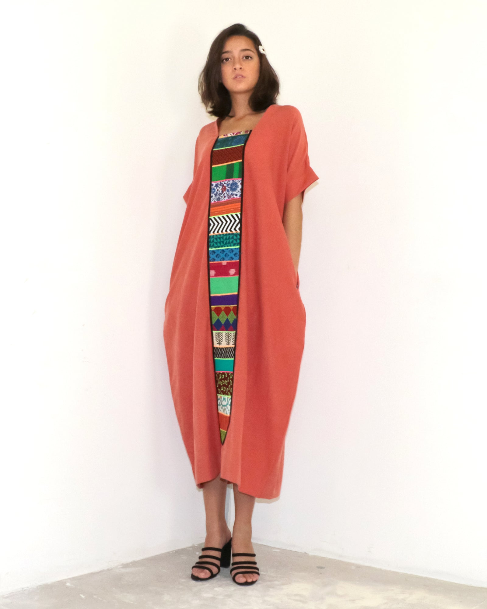 Patchwork Parade Dress | Terra Cotta
