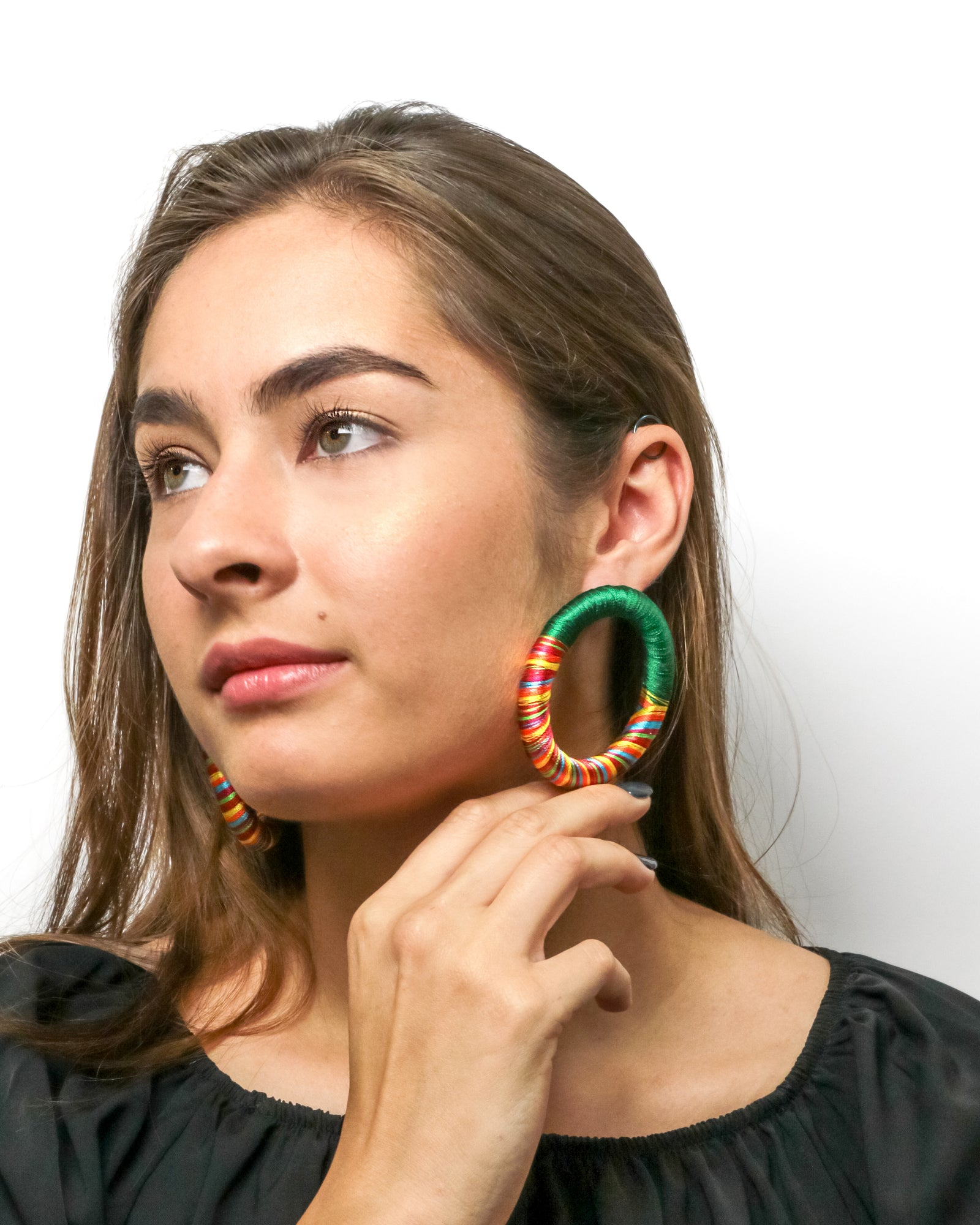 Rainbow Hoop Earrings
