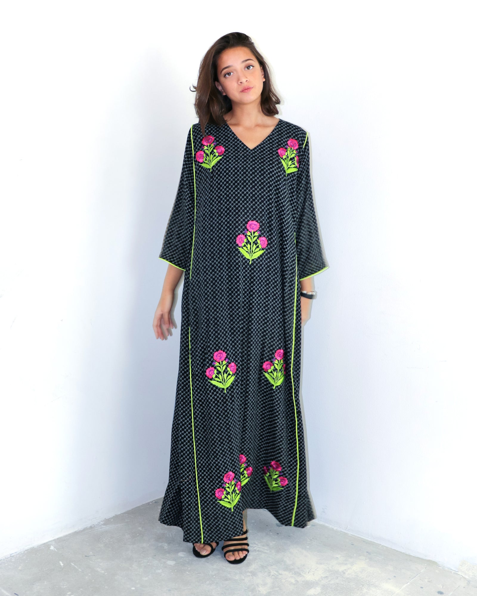 Jannati Embroidered Dress | Black - 2