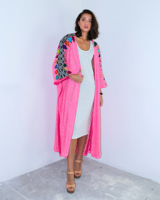 Bisht Duster | Summer Fuschia