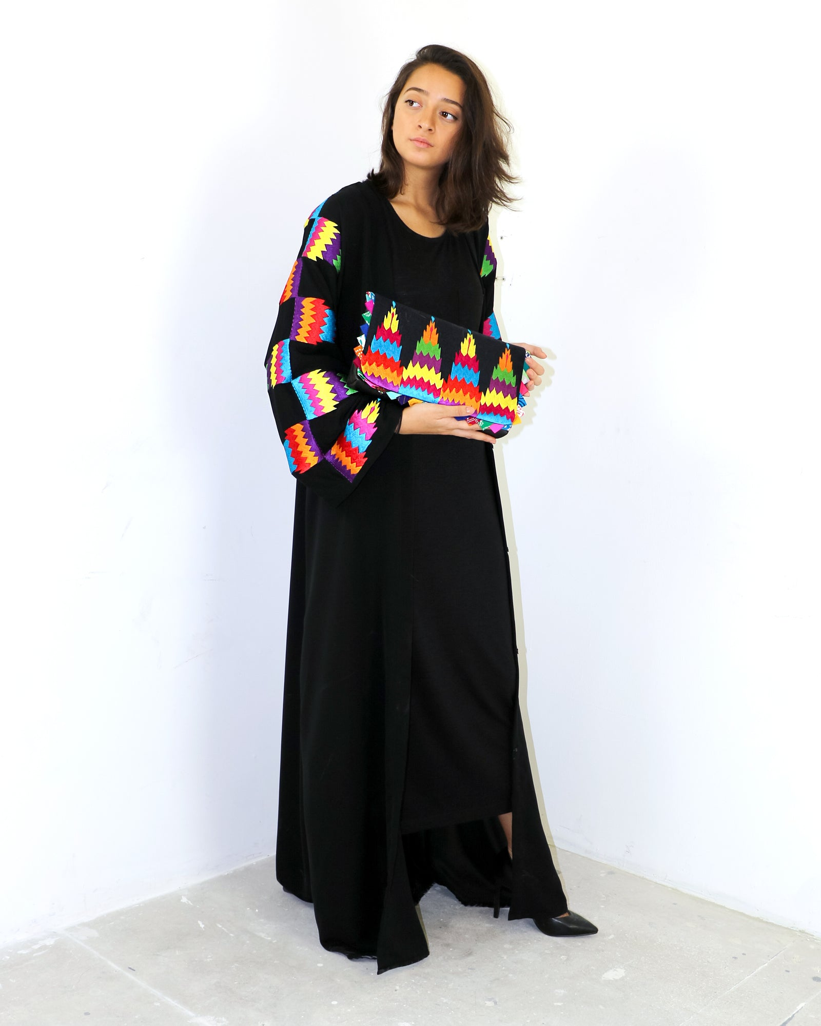 Pali Embroidered Abaya