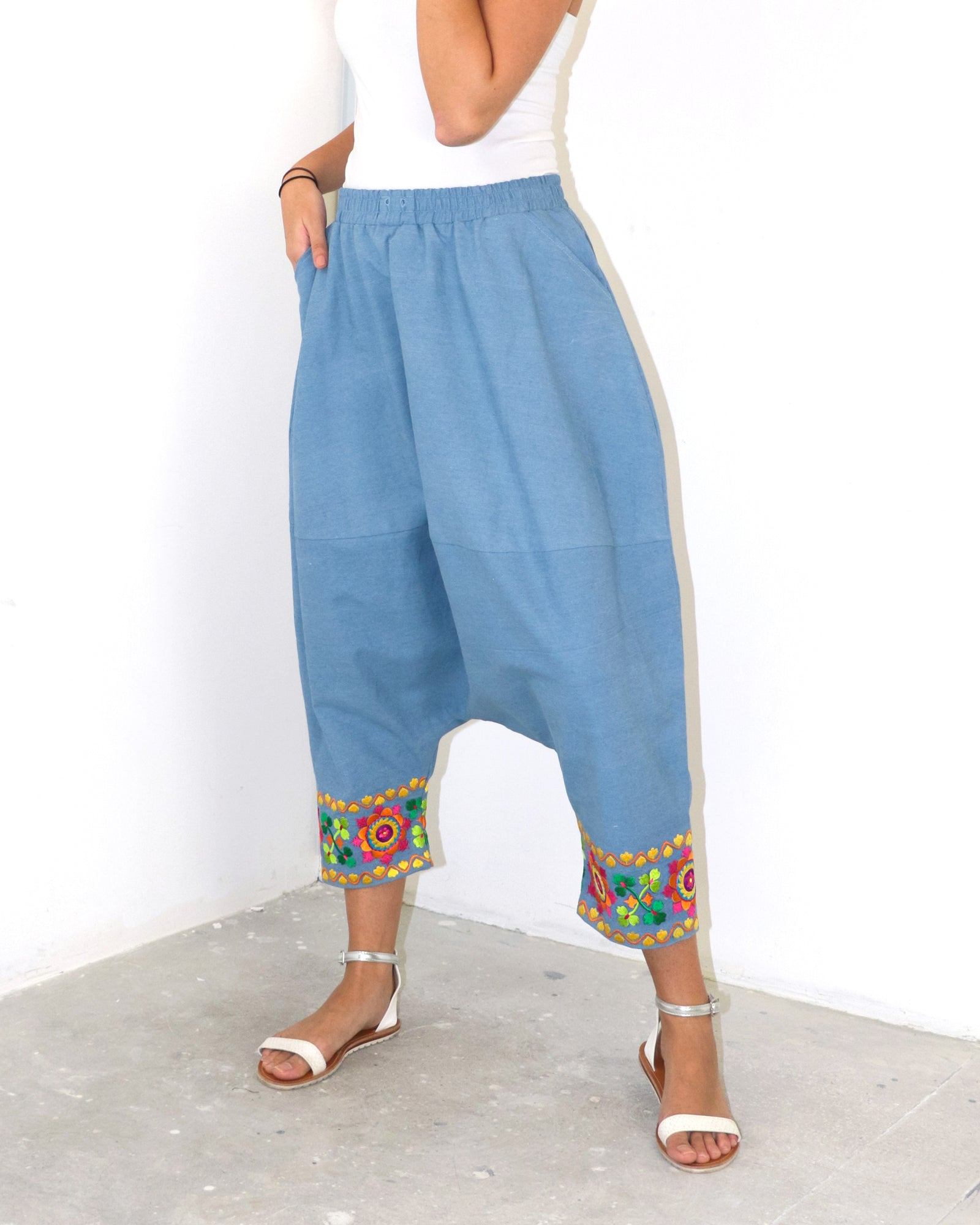 Coreena | Denim Harem Pants