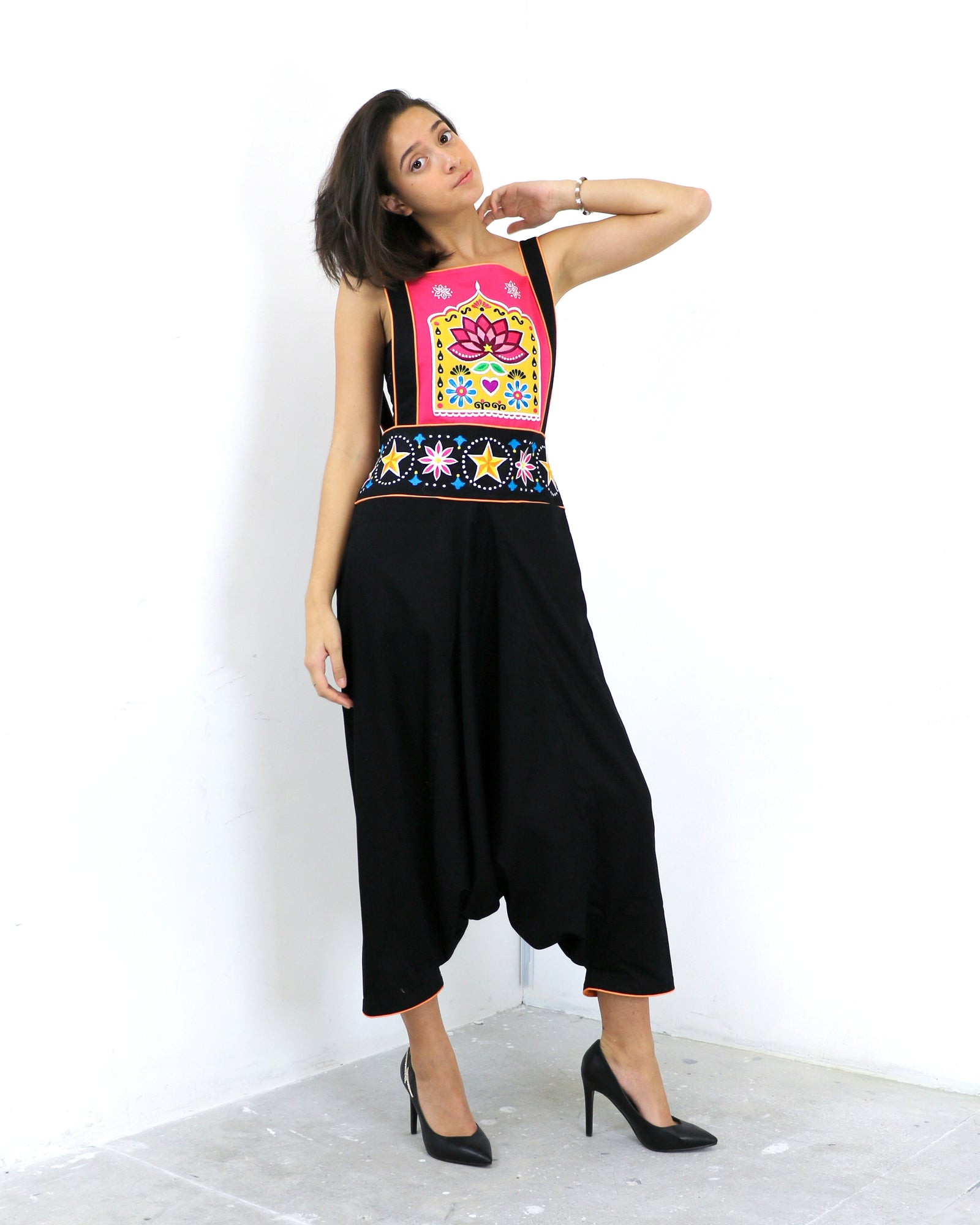 Sheetal | Embroidered Dungarees