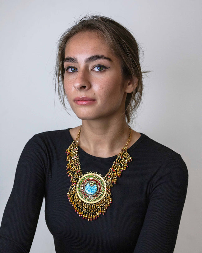 Devi | Gold Plated Restored Tribal Necklace