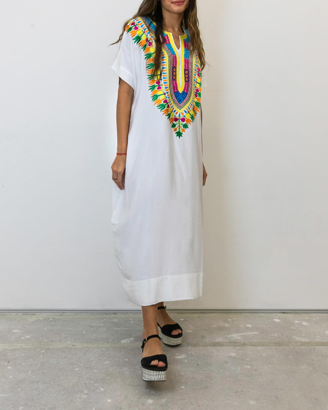 Eshe Dashiki Embroidery | White