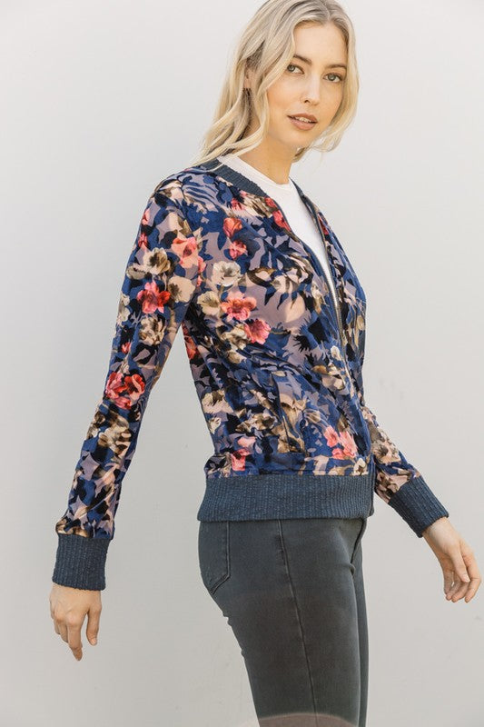 Floral Fun Bomber Jacket