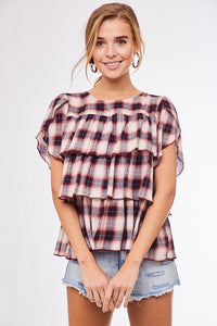 Picnic in the Park | Plaid Top