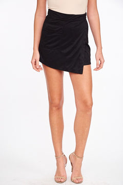 Black To Reality | Black Suede Skirt