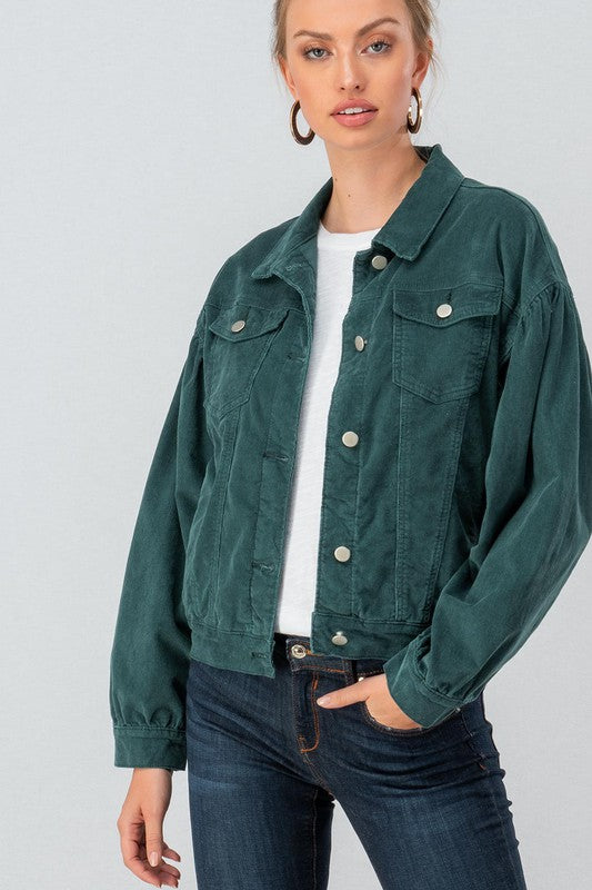 Teal We Meet Again | Corduroy Jacket