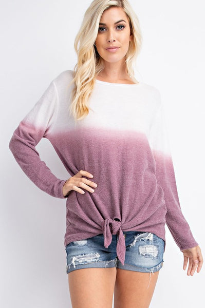 Metamorphosis | Pink & Burgundy Ombre Top