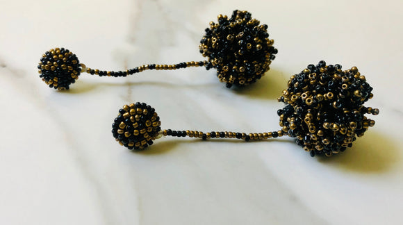 Black Bronze Ball Dangle