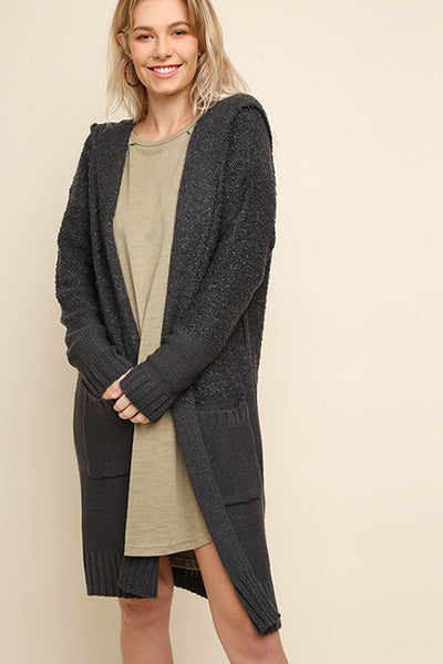 Chinchilly | Charcoal Cardigan