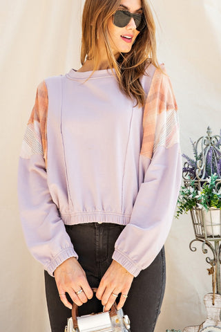 Purple Patchwork - Sweatshirt