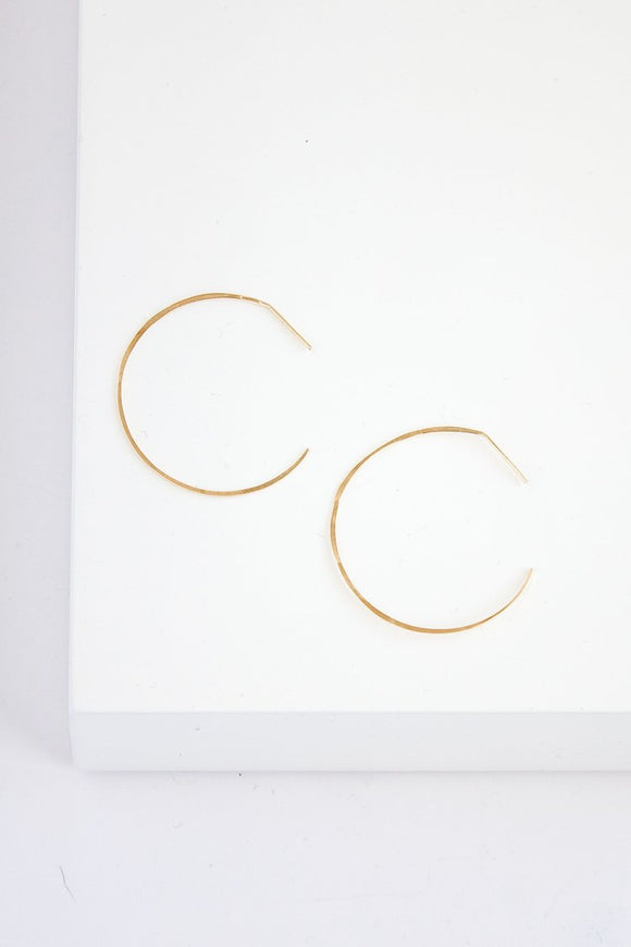 SERAPHINA Small Bare Hoop Earring