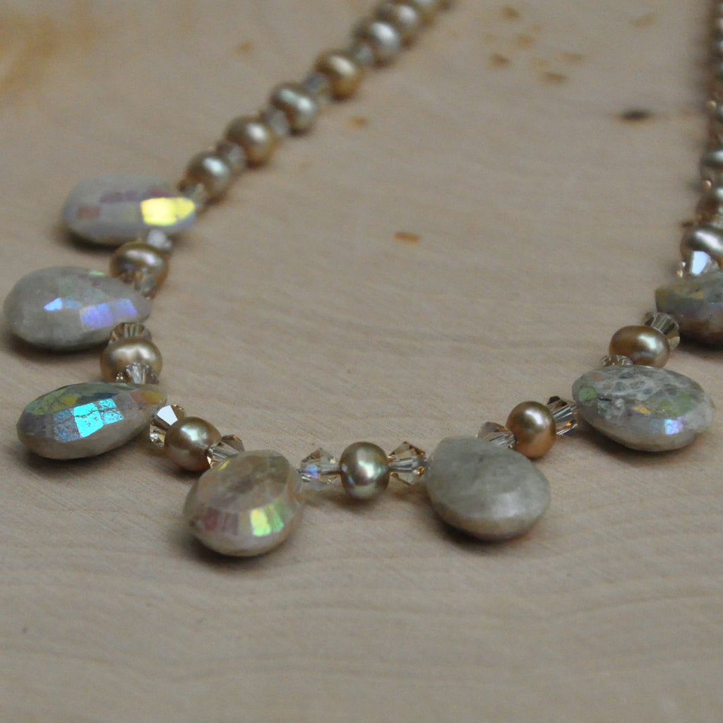 """Sea Shine"" Brown Aquamarine Necklace"