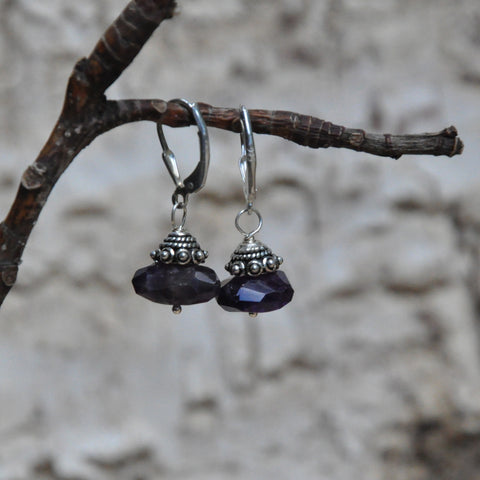 """Fresh Amethyst"" Amethyst Nuggets Earrings"