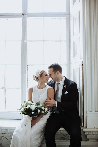 a bride and groom share a quiet moment- sage flowers and niche photography kingston