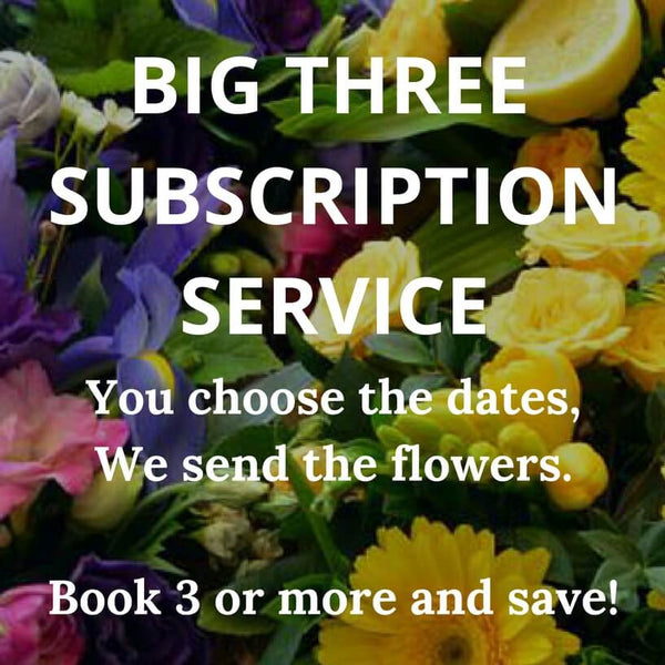 the BIG THREE- pre book the dates you don't want to forget