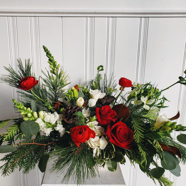 Luxe Christmas floral arrangement